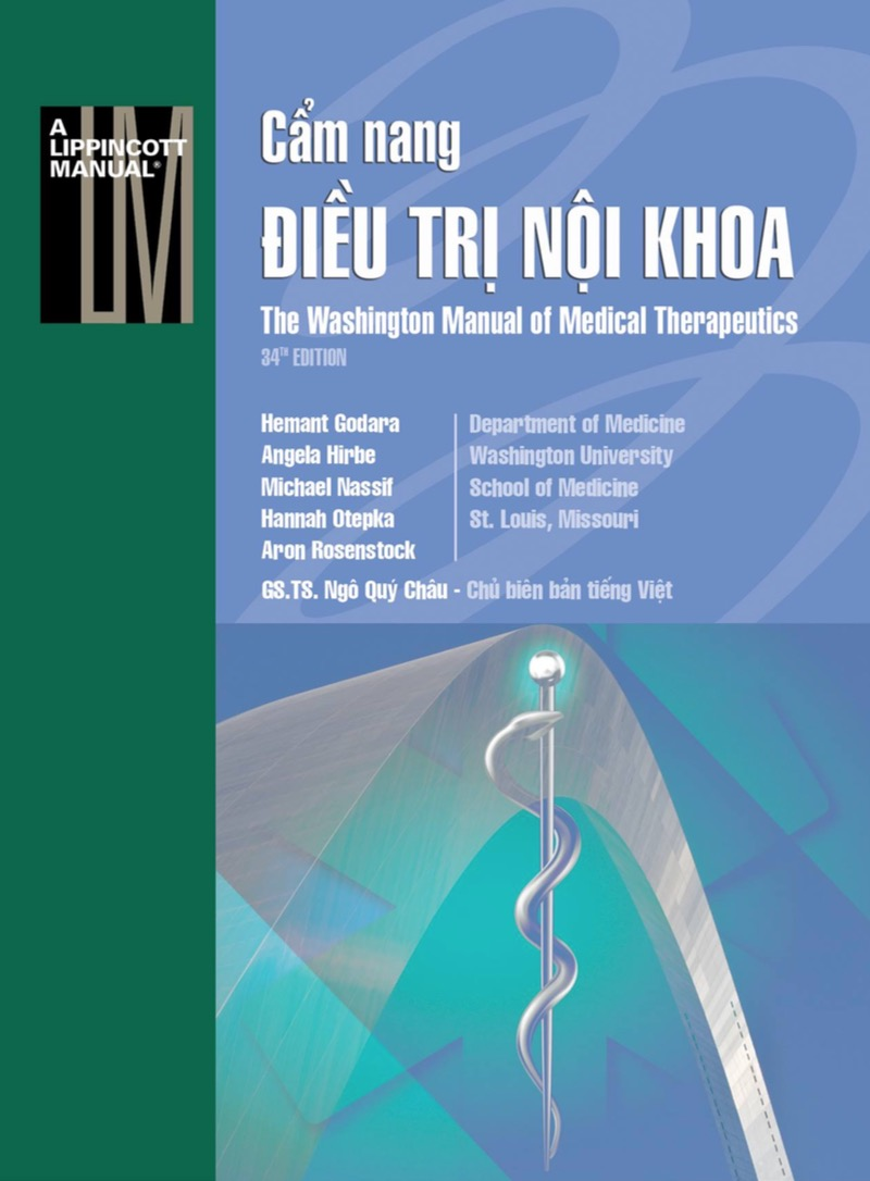 Cẩm Nang Điều Trị Nội Khoa - The Washington Mannual Of Medical Therapeutics